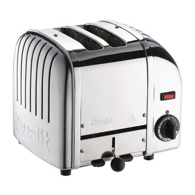 Dualit 2 Slice Vario Toaster Stainless Steel 20245 (Next working day to UK)