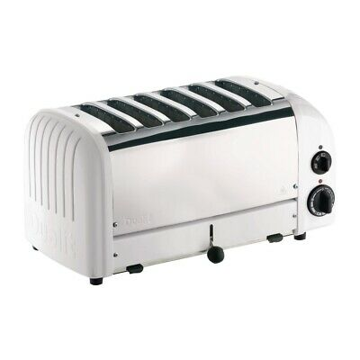 Dualit 6 Slice Vario Toaster White 60146 (Next working day UK Delivery)
