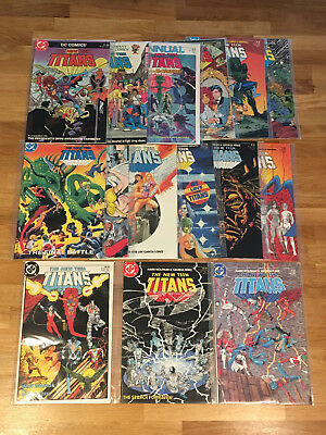 NEW TEEN TITANS Lot of 10 DC Books - #1-12, Annual 1, 2 Anti-Drug books - All NM