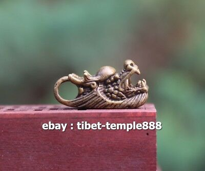 3.5 CM Chinese Bronze Counteract Evil Force Zodiac Animal Dragon Amulet Pendant