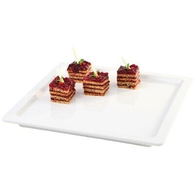 """White Square 13"""" Melamine Tray (Next working day UK Delivery)"""