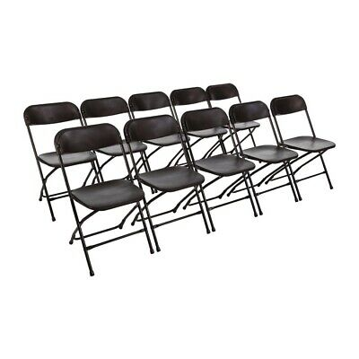 Bolero Folding Chair Black (Pack of 10) (Pack of 10) (Next working day to UK)