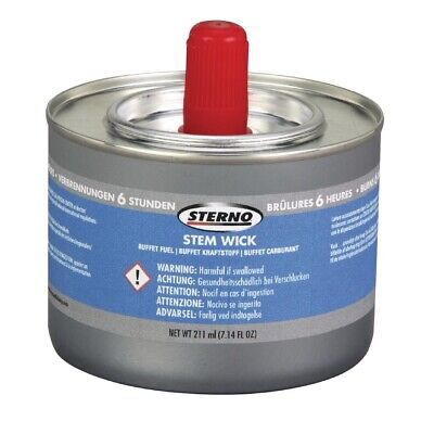 Sterno Stem Wick Liquid Chafing Fuel With Wick 6 Hour x 12 (Pack of 12)
