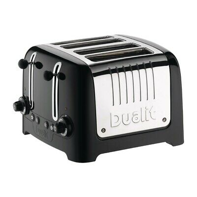 Dualit 4 Slice Lite Toaster Black 46205 (Next working day UK Delivery)