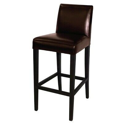 Bolero Faux Leather High Bar Stool Brown (Next working day UK Delivery)