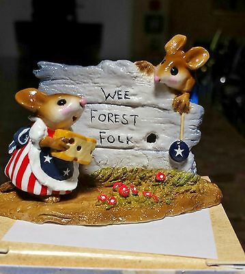 Wee Forest Folk M-239 SCAMPER  2002 NOAH'S SPECIAL Red/White/Blue  NEW