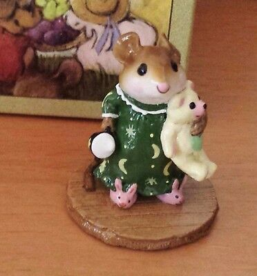 Wee Forest Folk M-218 Mousey's Bunny Slippers  FOLKTOBERFEST 2006 Special NEW