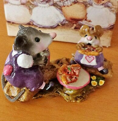 Wee Forest Folk M-244 Possum's Pizza Party  FAIRY TALES SPECIAL '06 Purple Mint