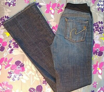 Citizens of Humanity Maternity Belly Panel Flare Stretch Jeans Size 28 (Size 6)