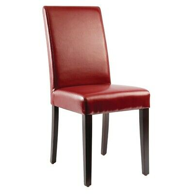 Bolero Faux Leather Dining Chairs Red (pack of 2) (Next working day to UK)