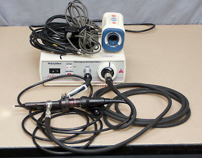 Welch Allyn 300S Light Source W/ 20580 Otoscope + AMD-2500 Camera  (R3)