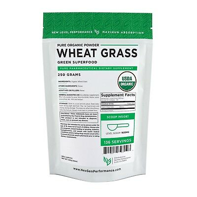 Wheat Grass Powder -USDA Certified Organic -Superfood -Vegan - NonGMO -New Look