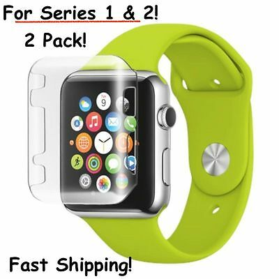 Slim Thin PC Protective Case Cover Screen Guard For Apple Watch 38mm iWatch 42mm