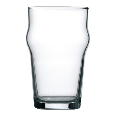 Arcoroc Nonic Beer Glasses 285ml CE Marked (Pack of 48) (Next working day to UK)