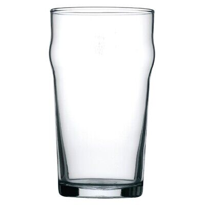Arcoroc Nonic Beer Glasses 570ml CE Marked (Pack of 48) (Next working day to UK)