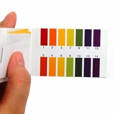 80X PH 1-14 Test Paper Litmus Strips Tester for Saliva Urine Water Soil Testing