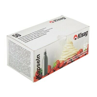 Kisag Cream Whipper Bulbs Box 50 (Next working day UK Delivery)