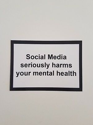 """""""Social Media seriously harms your mental health"""" Stickers Phone Case Streetwear"""