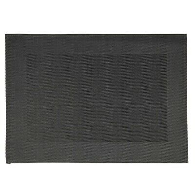 APS PVC Placemat Fine Band Frame Black (Pack of 6) (Next working day to UK)
