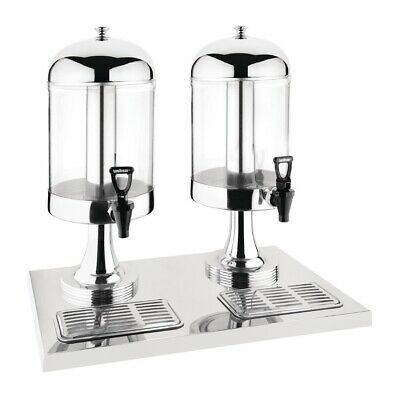 Olympia Double Juice Dispenser with Drip Tray (Next working day UK Delivery)