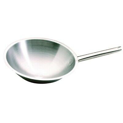 Bourgeat Stainless Steel Tradition Plus Wok (Next working day UK Delivery)