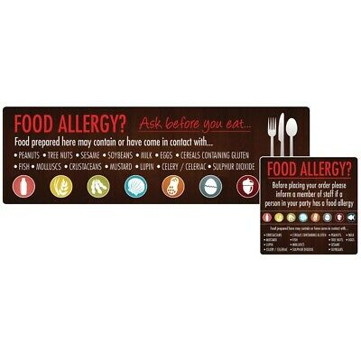 Food Allergen Window and Wall Stickers (Pack of 8) (Next working day to UK)