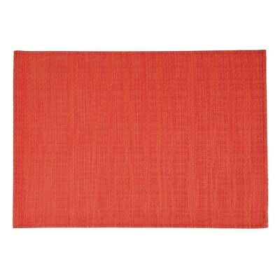 APS PVC Placemat Fine Band Red (Pack of 6) (Next working day UK Delivery)