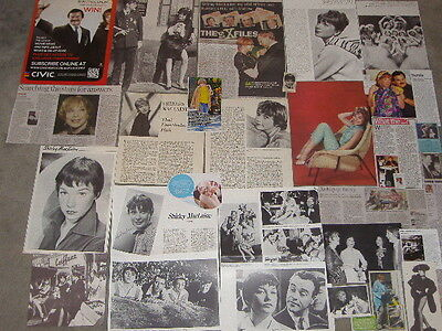 SHIRLEY MACLAINE - Over 20 clippings