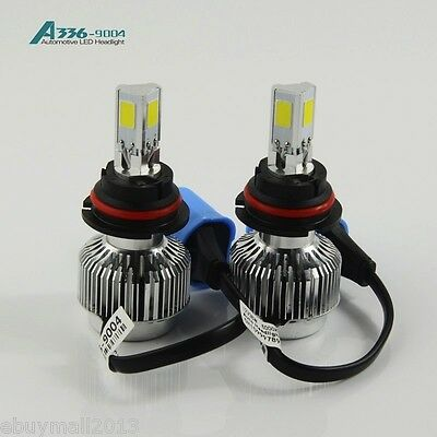 Super Bright WH 9004 72W 6000K Car Motorbike COB Bulbs Lamps Conversion Kit DIY