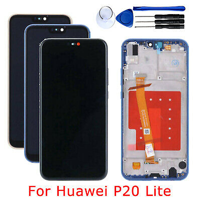 Schermo Display LCD + Touch Screen Digitizer con Frame Per Huawei P20 Lite Nero