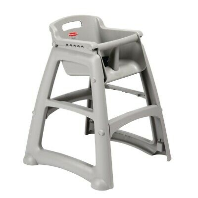 Rubbermaid Sturdy Stacking High Chair Platinum (Next working day UK Delivery)