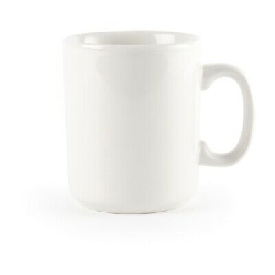 Churchill Plain Whiteware Windsor Mugs 284ml (Pack of 36)