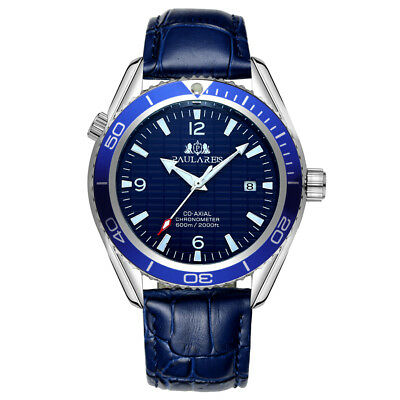 Paulareis Men's Watch Automatic Mechanical Stainless Steel Homage Sea Bezel Date