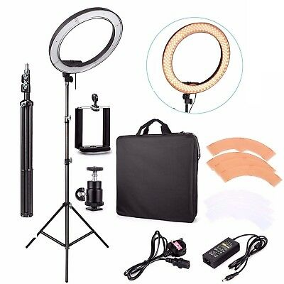 "Travor 19"" 5500K Dimmable Diva LED Ring Light With Diffuser Stand Studio Lamp"