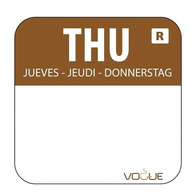Vogue Removable Colour Coded Food Labels Thursday (Pack of 1000)
