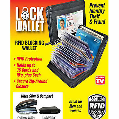 High Quality Lock Wallet - RFID Blocking Wallets As   On TV