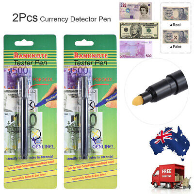 Counterfeit Money Detector Pen Fake Banknote Tester Checker Marker M4R5