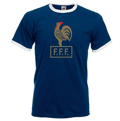 France Retro Football Ringer T-Shirt - French World Cup 2018 Francais