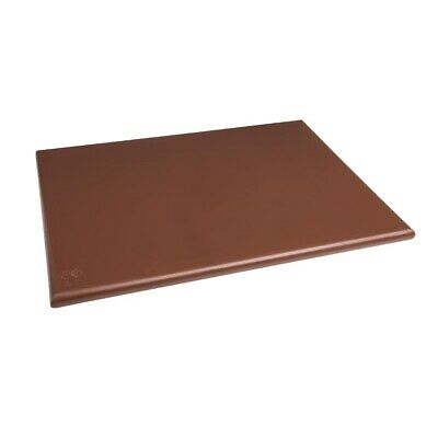 Hygiplas Extra Thick High Density Brown Chopping Board Large