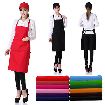 Men Women Waterproof Chef Apron Catering Cooking Kitchen Butcher Bib with Pocket