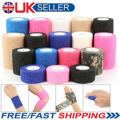 UK Tattoo Self-adhesive Elastic Bandage Tattoo Grip Tube Cover Wrap Sports Tape