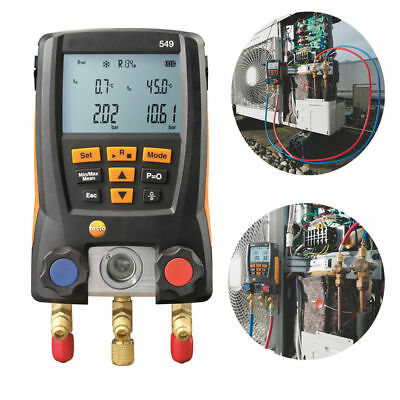 Testo 549 Refrigeration Digital Manifold HVAC Gauge System Kit Meter Durable
