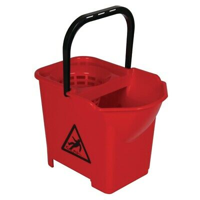 Jantex Colour Coded Mop Bucket Red (Next working day UK Delivery)