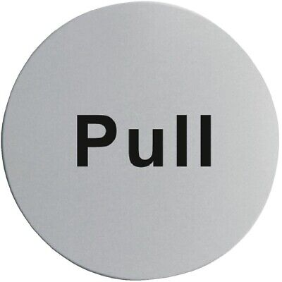 Stainless Steel Door Sign - Pull (Next working day UK Delivery)