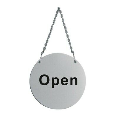 Stainless Steel Door Sign - Open and Closed (Next working day UK Delivery)