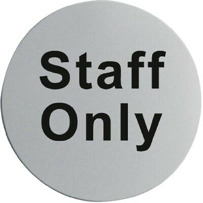 Stainless Steel Door Sign - Staff Only (Next working day UK Delivery)