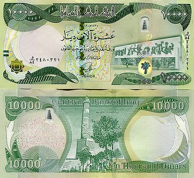 100 000 New Iraqi Dinars 2014 (2013) with New Security Features -10 x 10 000 UNC