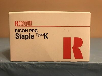 Brand New Ricoh PPC Staple Type K Genuine 410801 NEW Looking Box!