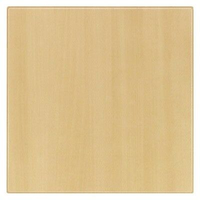 Werzalit Pre-drilled Square Table Top  Planked Beech 700mm