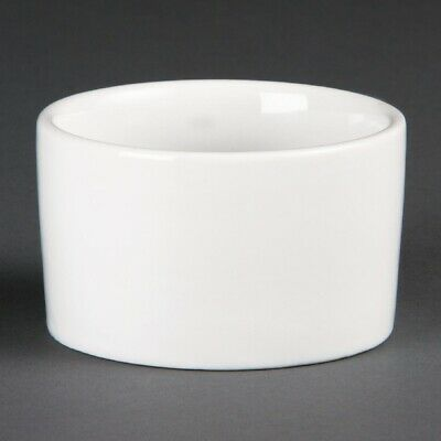 Olympia Whiteware Contemporary Ramekins 90mm (Pack of 12)